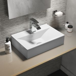 Cassellie 1 Tap Hole Wall Hung Cloakroom Basin 460mm Lifestyle