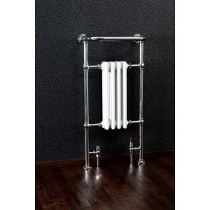 Cassellie Traditional Chrome Heated Towel Rail-4-sections