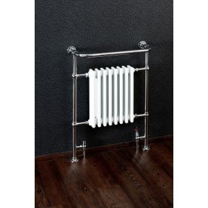 Cassellie Traditional Chrome Heated Towel Rail with 8 Sections