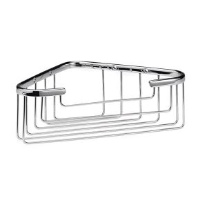 Ultra Chrome Bathroom Deep Corner Basket