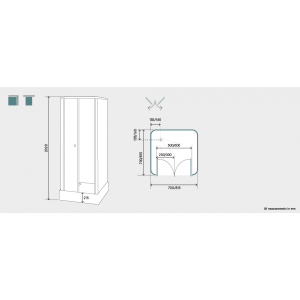Kinedo Consort Self-Contained Shower Cubicle Dimensions