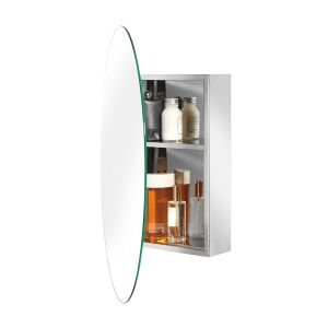 Croydex Tay Stainless Steel Oval Cabinet Detail