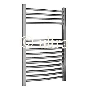 Premier Curved Chrome Multirail Towel Rail 700 x 500mm