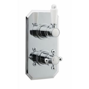 Ultra Edwardian Twin Concealed Thermostatic Shower Valve