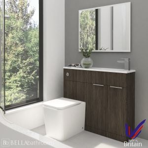 Elation Combination Straight Bodega Grey Furniture Pack 1000mm Right Hand with Brearton Toilet