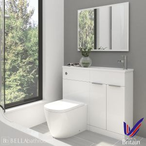 Elation Combination Straight White Furniture Pack 1000mm Right Hand with Cayton Toilet