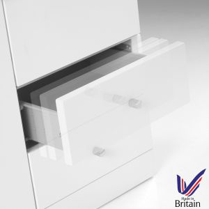 Ikoma White Gloss 4 Drawer Unit Soft Close Drawer