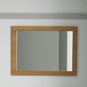 Elation Sendai Natural Oak Framed Mirror 450mm
