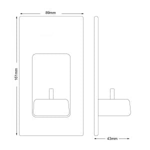 Electric Toothbrush Charger Dimensions