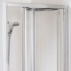 Lakes Classic Silver Bifold Shower Door with Optional Side Panels