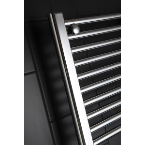 Frontline Flat Chrome Heated Towel Rail With Multiple Hanging Areas W450 H1100