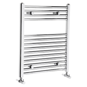 Frontline Flat Chrome Heated Towel Rail With Multiple Hanging Areas W600 H700