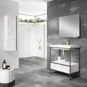 Frontline Mode Marble Tall Unit Lifestyle