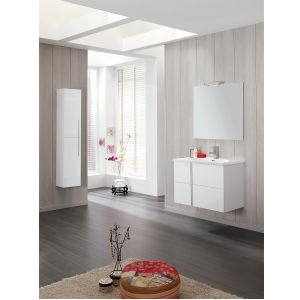 Frontline Onix Gloss White Tall Wall Unit Lifestyle