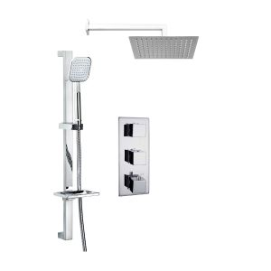 Frontline Pure Triple Thermostatic Mixer Shower with Ultra Thin Head