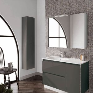 Frontline Valencia Anthracite Wall Mounted Tall Unit Lifestyle