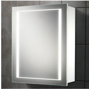 Hib Austin Single Door Illuminated Bathroom Mirrored Cabinet