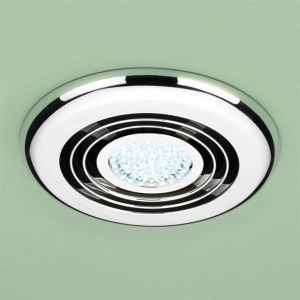 HiB Cyclone Cool White LED Inline Wetroom Extractor Fan in Chrome