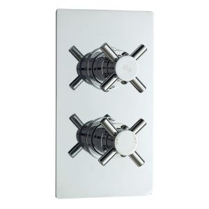 Hudson Reed Kristal Twin Concealed Thermostatic Shower Valve with Diverter