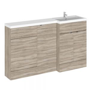 Hudson Reed Fusion Driftwood Full Depth Combination Furniture Pack 1500mm
