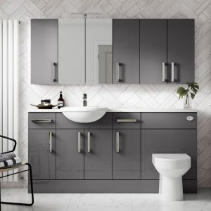 Hudson Reed Fusion Gloss Grey Furniture