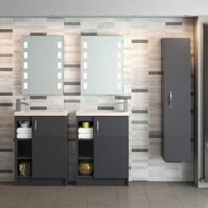 Hudson Reed Apollo Gloss Grey WC Unit Lifestyle
