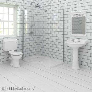 Hudson Reed Chancery Bathroom Suite with Pacific Walk-In Shower Enclosure