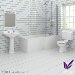 Hudson Reed Chancery Right Handed L Shape Shower Bath Suite
