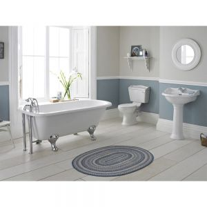 Hudson Reed Chancery Traditional Close Coupled Bathroom Suite with Slipper Bath