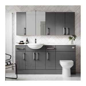 Hudson Reed Fusion Gloss Grey Lifestyle Picture
