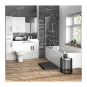 Hudson Reed Fusion Gloss White Lifestyle Picture