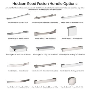 Hudson Reed Fusion Handle Options