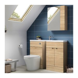 Hudson Reed Fusion Natural Oak Lifestyle Picture