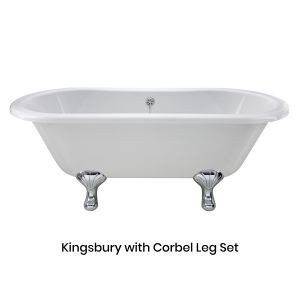 Hudson Reed Kingsbury Freestanding Bath with Corbel Leg Set