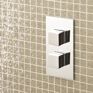 Hudson Reed Lennox Twin Concealed Thermostatic Shower Valve Lifestyle