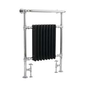 Hudson Reed Marquis Black and Chrome Traditional Radiator