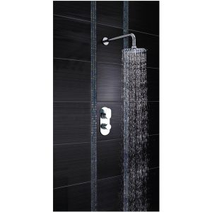 Hudson Reed Reign Rounded Twin Concealed Thermostatic Shower Valve Lifestyle