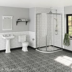 Hudson Reed Richmond Traditional Ensuite with Apex Offset Quadrant Shower Enclosure