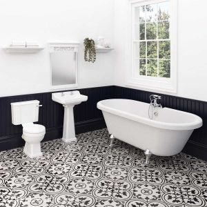 Hudson Reed Richmond Traditional Bathroom Suite with Skipton Freestanding Bath