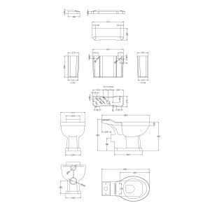 Hudson Reed Close Coupled Toilet Dimensions