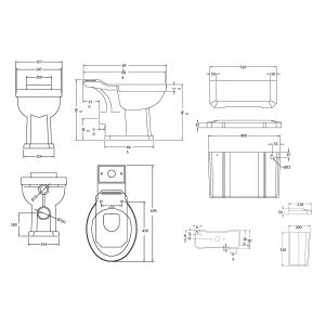 Hudson Reed Richmond Comfort Height Toilet Drawing
