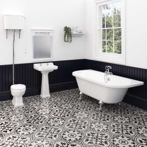 Hudson Reed Richmond High Level Traditional Bathroom Suite with Back To Wall Bath