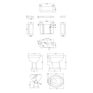 Hudson Reed Richmond Low Level Toilet Dimensions