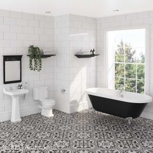 Hudson Reed Richmond Traditional Bathroom Suite with Freestanding Bath