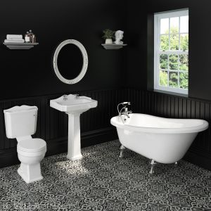 Hudson Reed Richmond Traditional Bathroom Suite with Slipper Bath