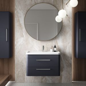 Hudson Reed Solar Indigo Blue Wall Hung Vanity Unit 800mm Lifestyle picture