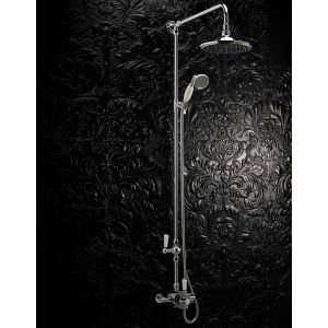 Hudson Reed Traditional Dual Exposed Thermostatic Shower with Fixed Shower Rail