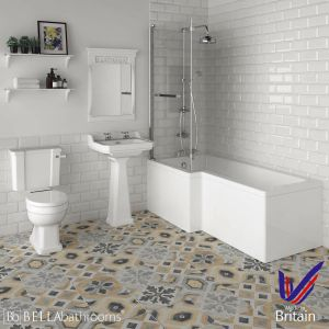 Hudson Reed Richmond Traditional Left Handed Shower Bath Suite