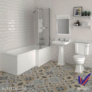Hudson Reed Richmond Traditional Right Handed Shower Bath Suite