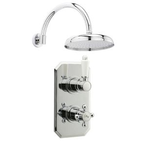 Hudson Reed Traditional Twin Thermostatic Shower with Fixed Shower Head
